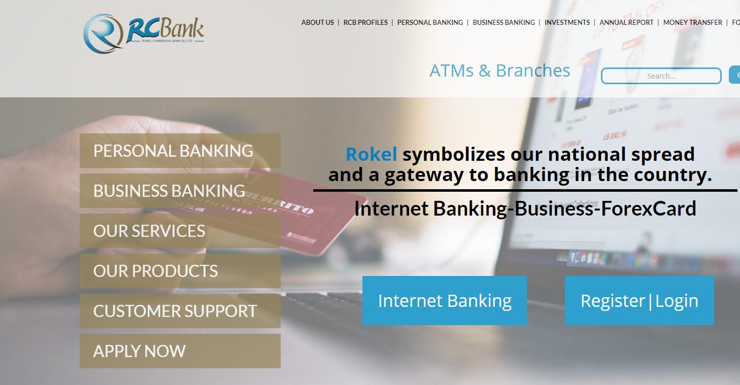 , Log in to Rokel Commercial Bank, Freetown, Sierra Leone 's Internet Online Bank