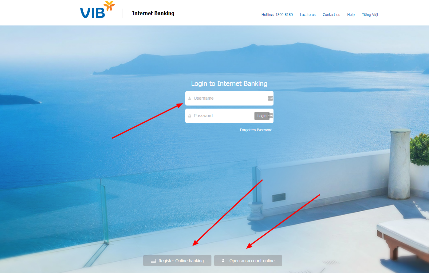 , Log in to VIB Corp, El Centro, United States  Internet Online Bank